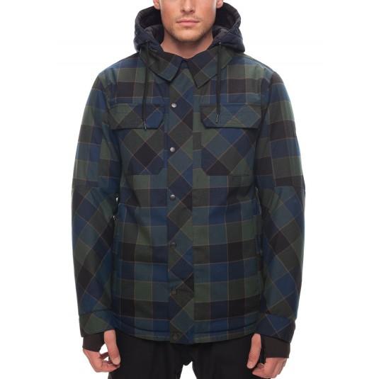 Giacca-snowboard-uomo-Woodland Insulated Jacket plaid-686